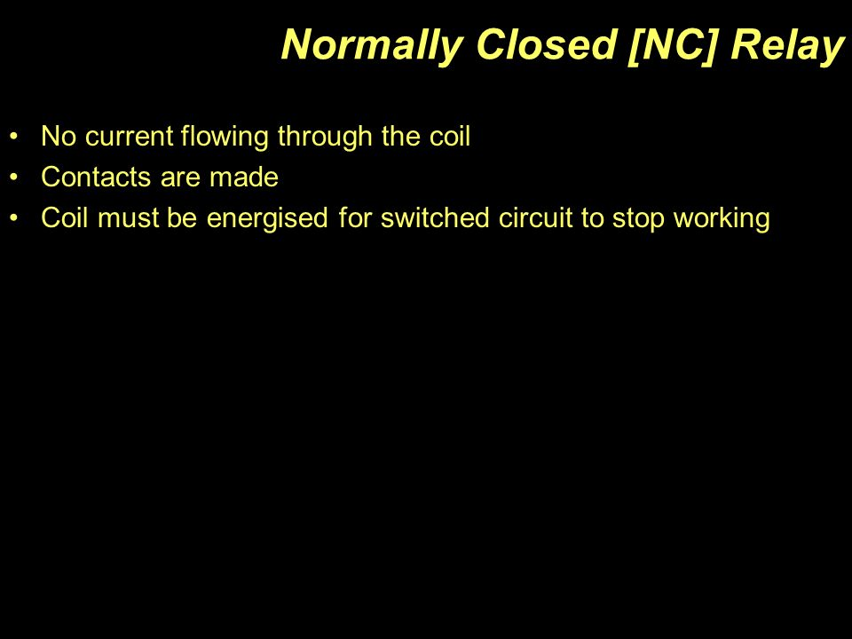 normally closed nc relay